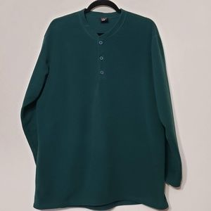 Patagonia Capilene Green Fleece Sweatshirt, sz XL